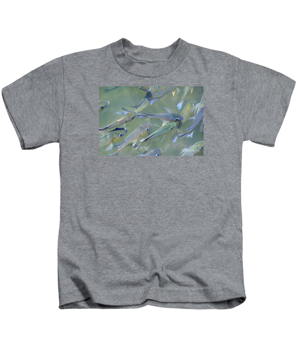 Fish Kids T-Shirt featuring the photograph Talapia At Dawn by Mary Deal