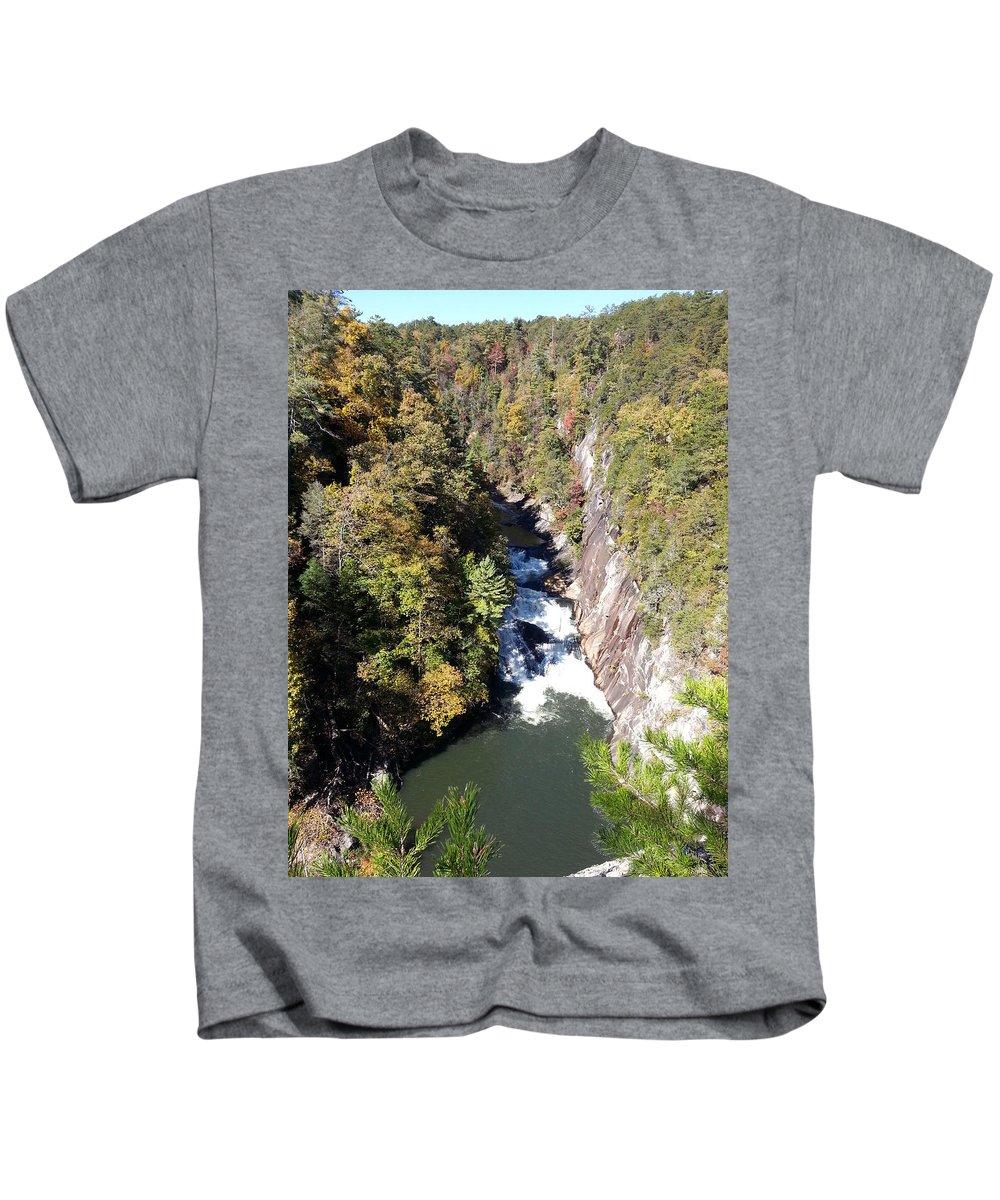 Autumn Kids T-Shirt featuring the photograph Tallulah Autumn by Brenda Stevens Fanning