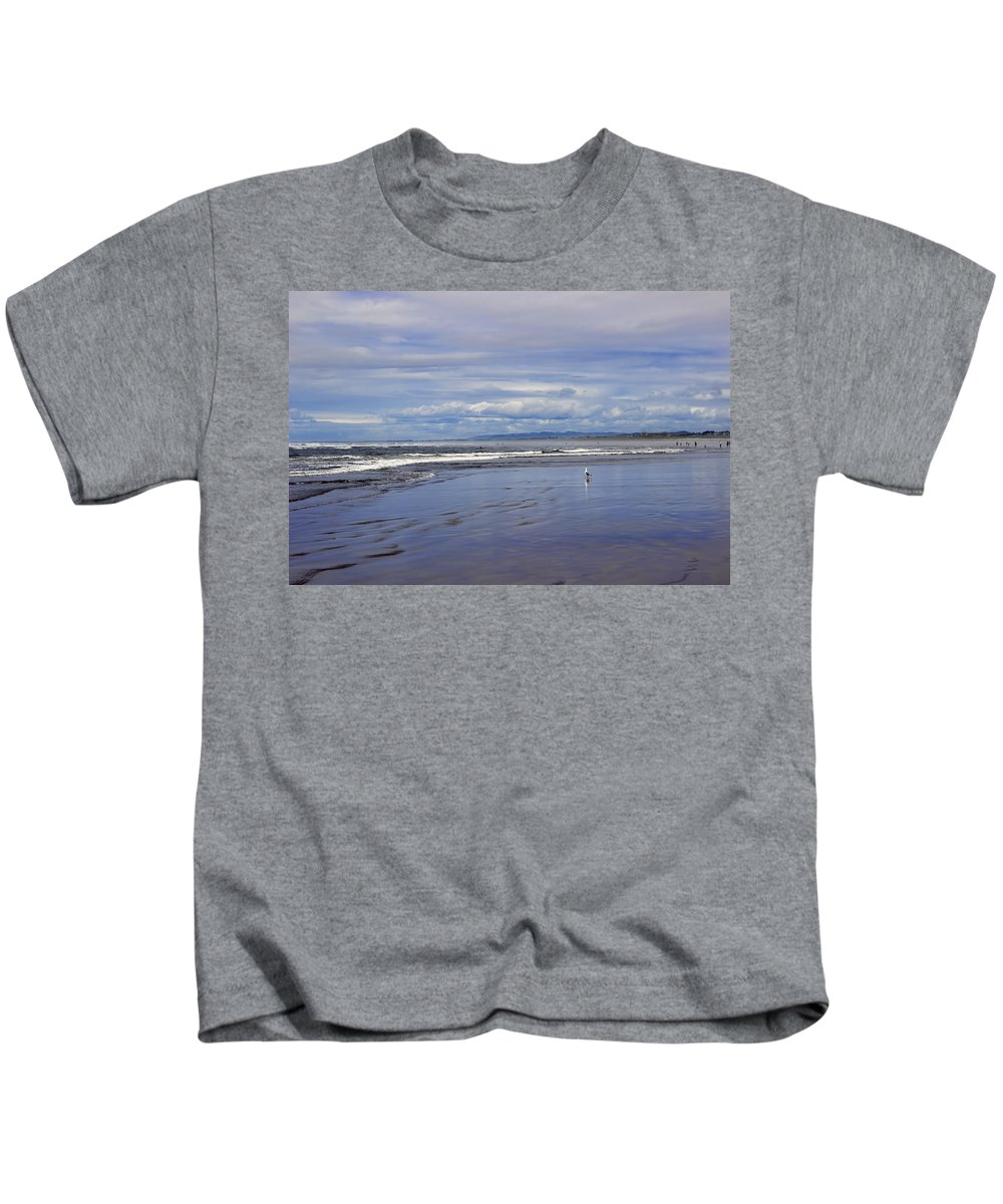Kids T-Shirt featuring the photograph The Beach At Seaside by Cathy Anderson