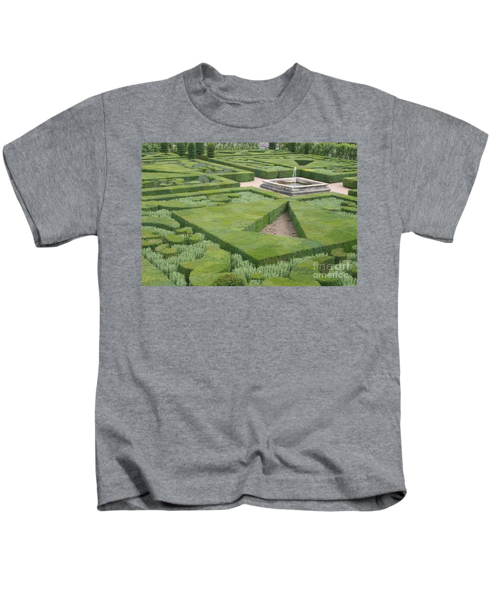 Boxwood Kids T-Shirt featuring the photograph The Boxwood Garden At Chateau Villandry by Christiane Schulze Art And Photography