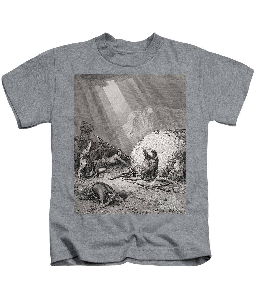 Saint Kids T-Shirt featuring the painting The Conversion Of St. Paul by Gustave Dore
