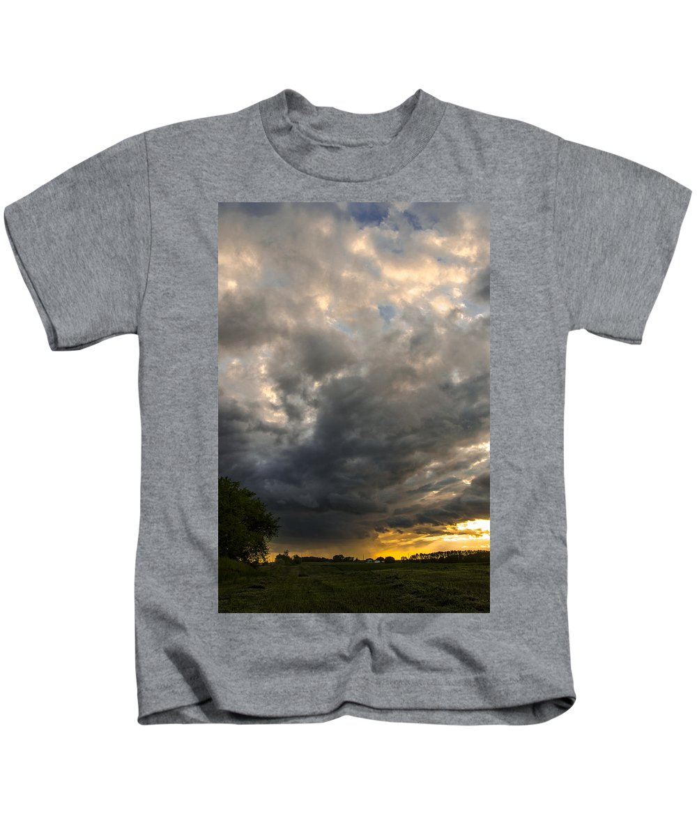 Canada Kids T-Shirt featuring the photograph The Displeasure Of The Gods by Sandra Parlow