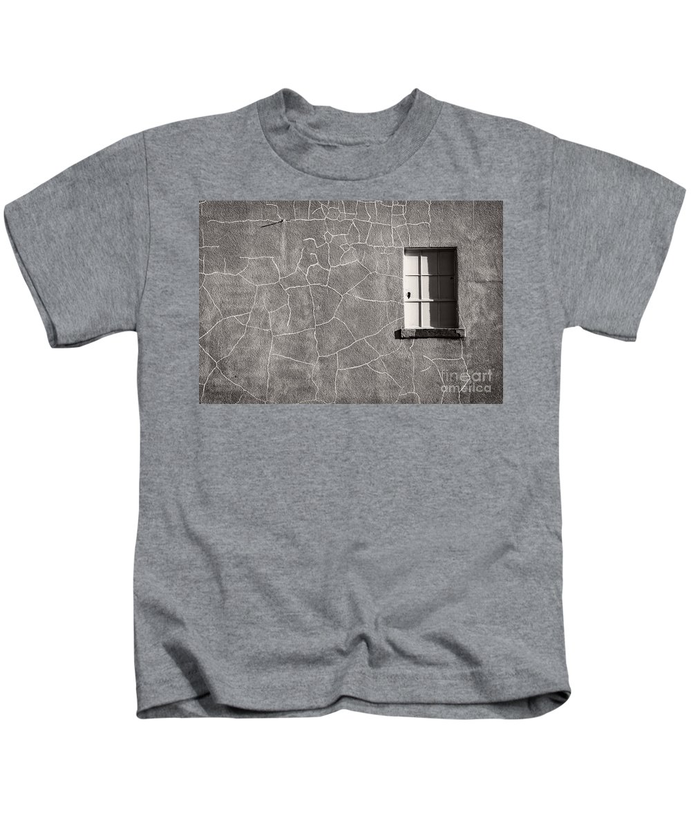Art Kids T-Shirt featuring the photograph The Emotional Wall by Charles Dobbs