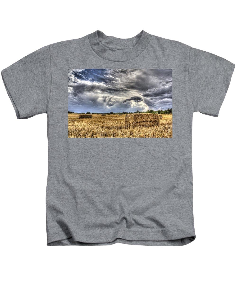 Farm Kids T-Shirt featuring the photograph The Farm In The Summer by David Pyatt