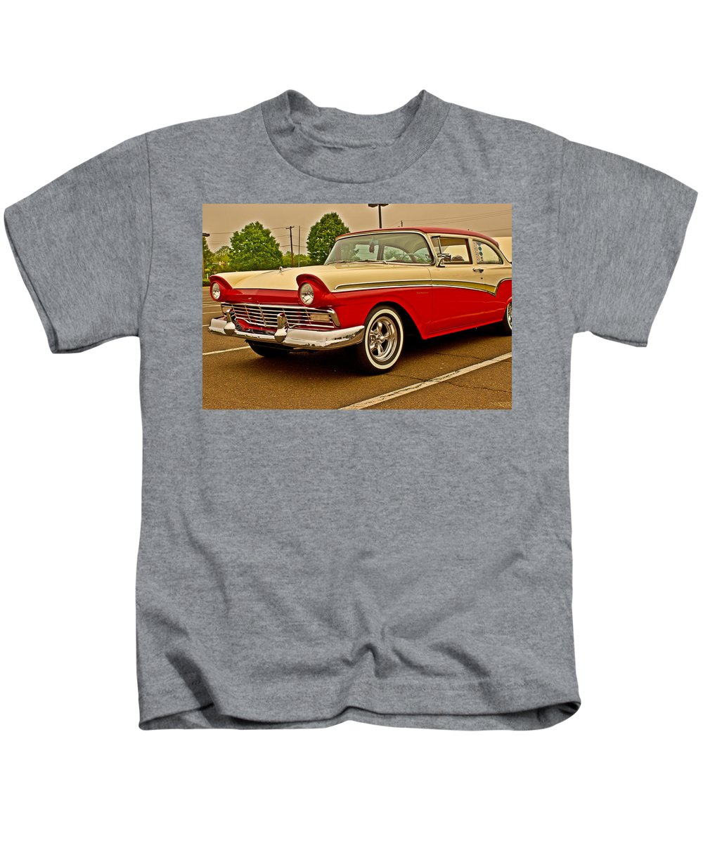 Automobile Kids T-Shirt featuring the photograph The Fifties by Tom Gari Gallery-Three-Photography