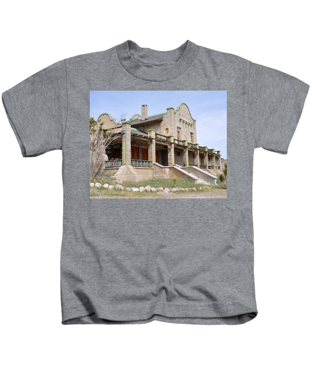 Depot Kids T-Shirt featuring the photograph The Las Vegas And Tonopah Railroad Depot by Patricia Quandel