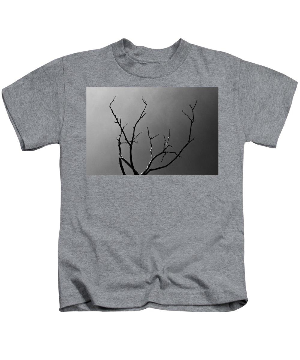 Lightning Kids T-Shirt featuring the photograph The Lightning Tree by David Pyatt