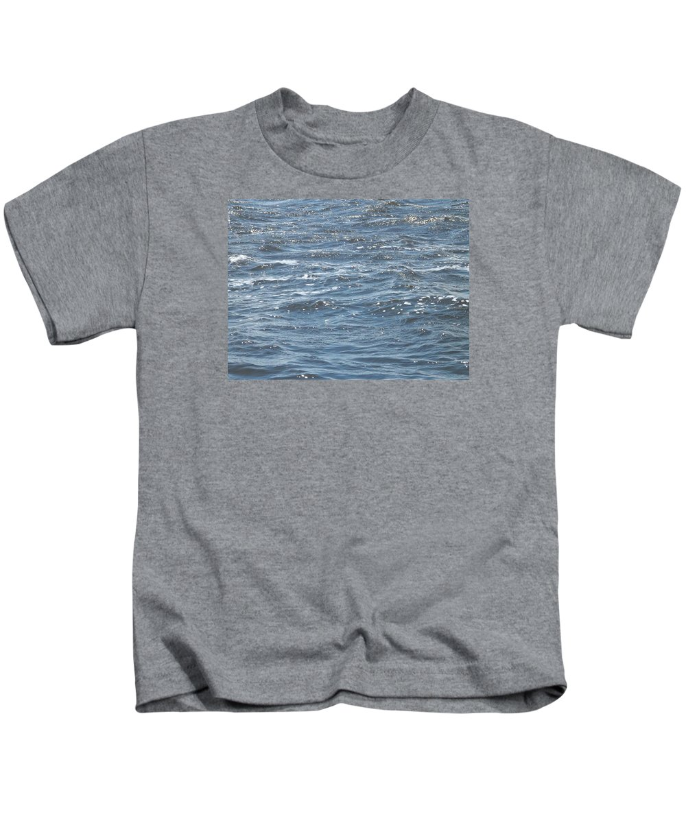 Ocean Kids T-Shirt featuring the photograph The Ocean by J Nell Bliss