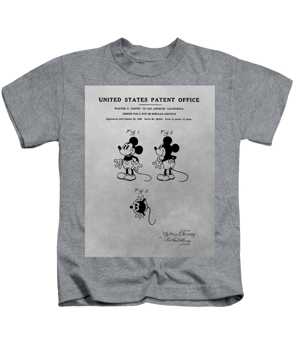 f6972cc0c The Original Mickey Mouse Patent Design Kids T-Shirt for Sale by Dan Sproul