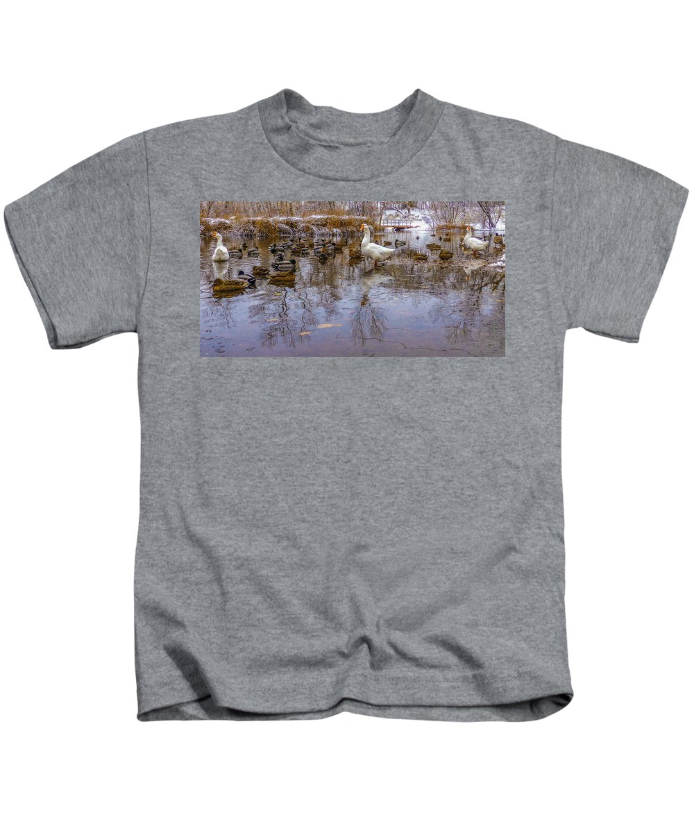 Gigimarie Kids T-Shirt featuring the photograph The Pond by Gina Herbert