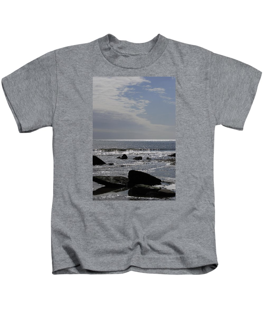 The Kids T-Shirt featuring the photograph The Sparkling Sea by Wendy Wilton