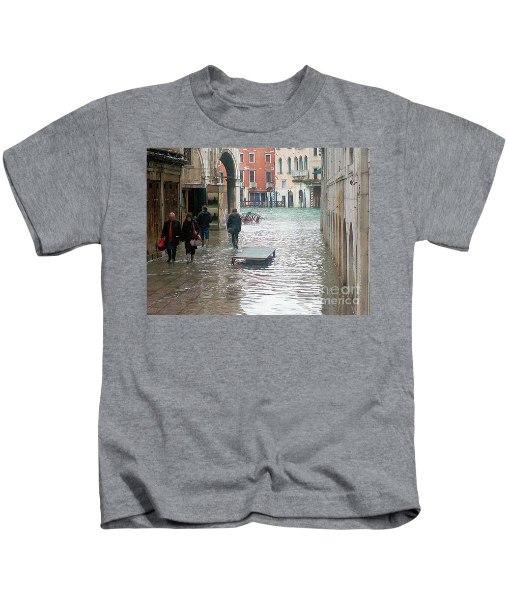 Venice Kids T-Shirt featuring the photograph The Streets Of Venice by Christy Gendalia