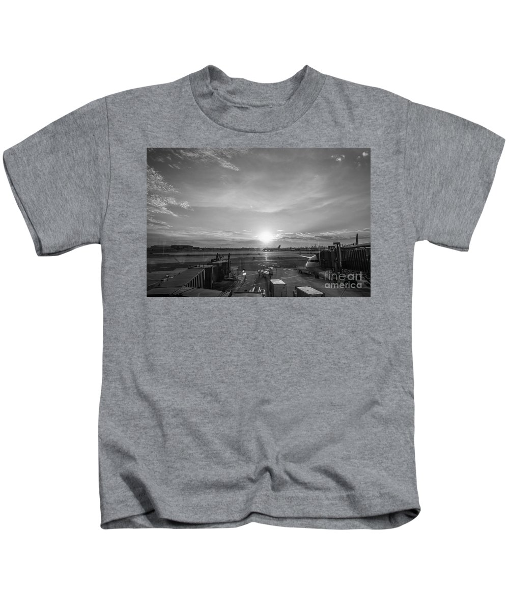 The Traveler Kids T-Shirt featuring the photograph The Traveler Bw by Michael Ver Sprill