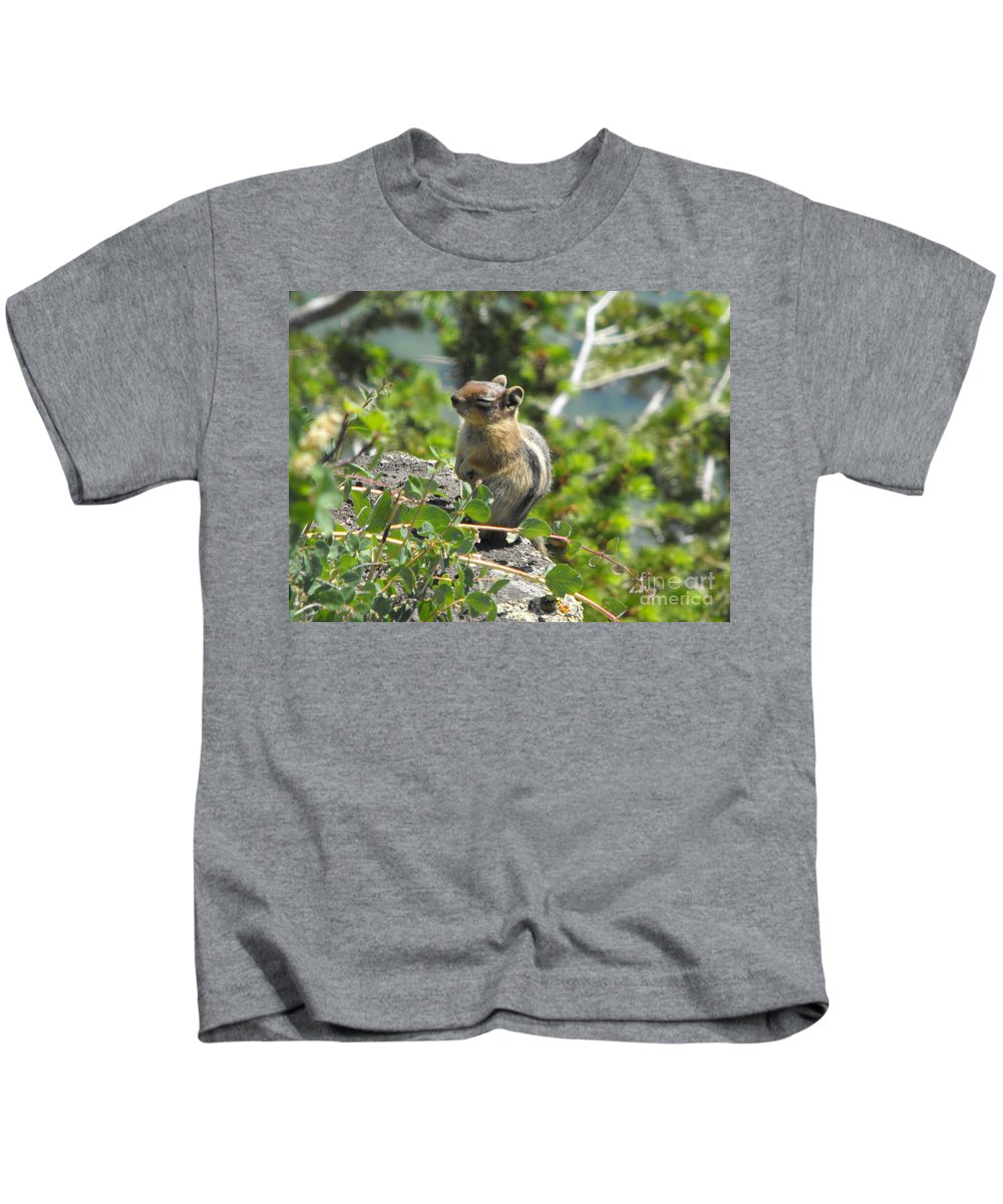 Animals Kids T-Shirt featuring the photograph This Is The Life by Brandi Maher