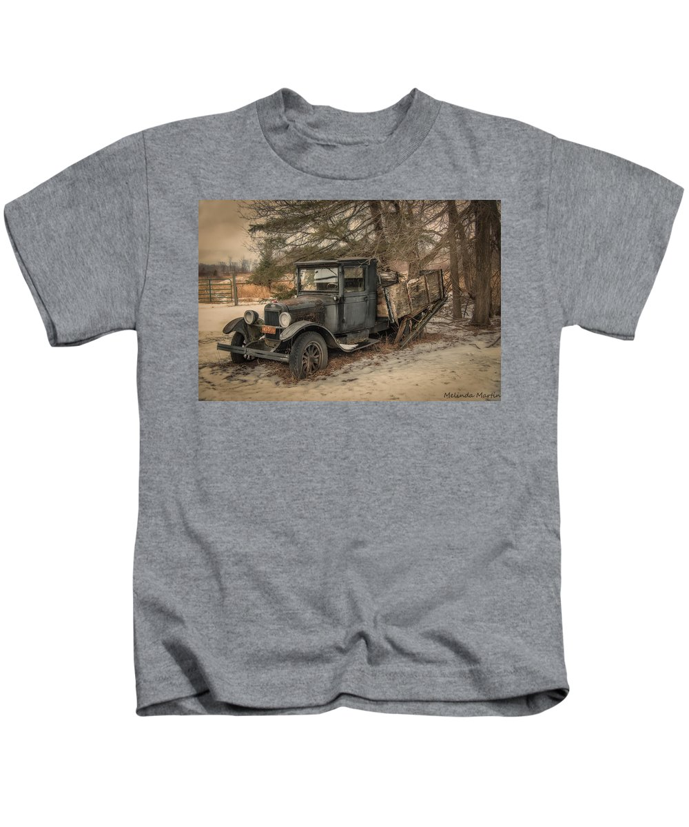 Melinda Martin Kids T-Shirt featuring the photograph This Old Truck by Melinda Martin