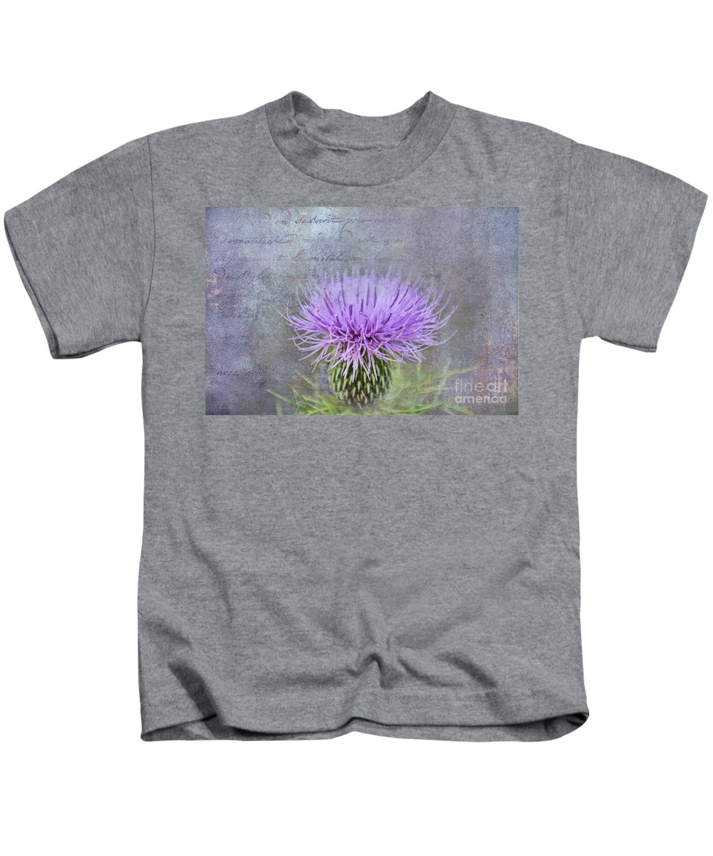 Flower Kids T-Shirt featuring the photograph Thistle by David Arment