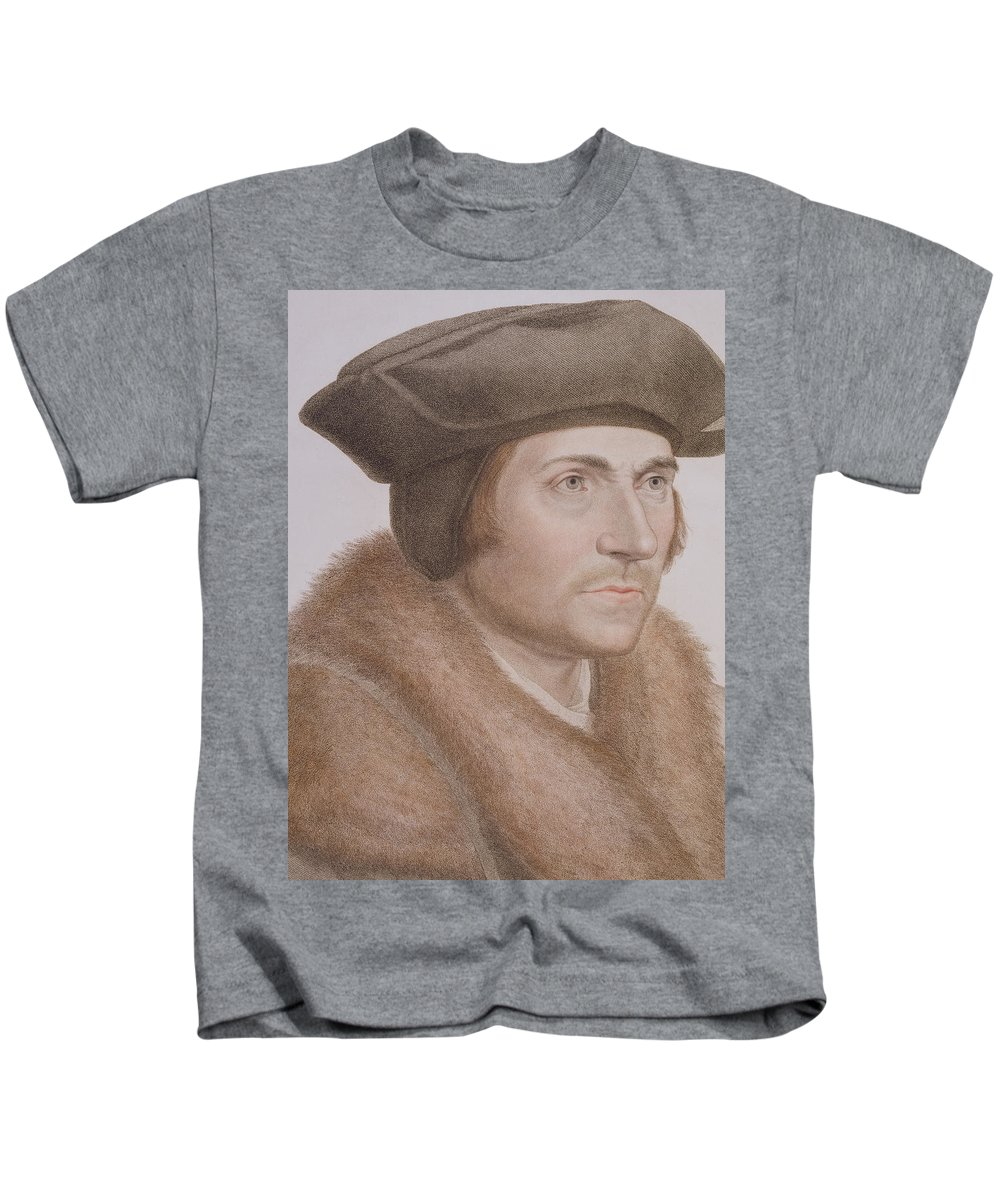 Portrait Kids T-Shirt featuring the painting Thomas More by Hans Holbein the Younger