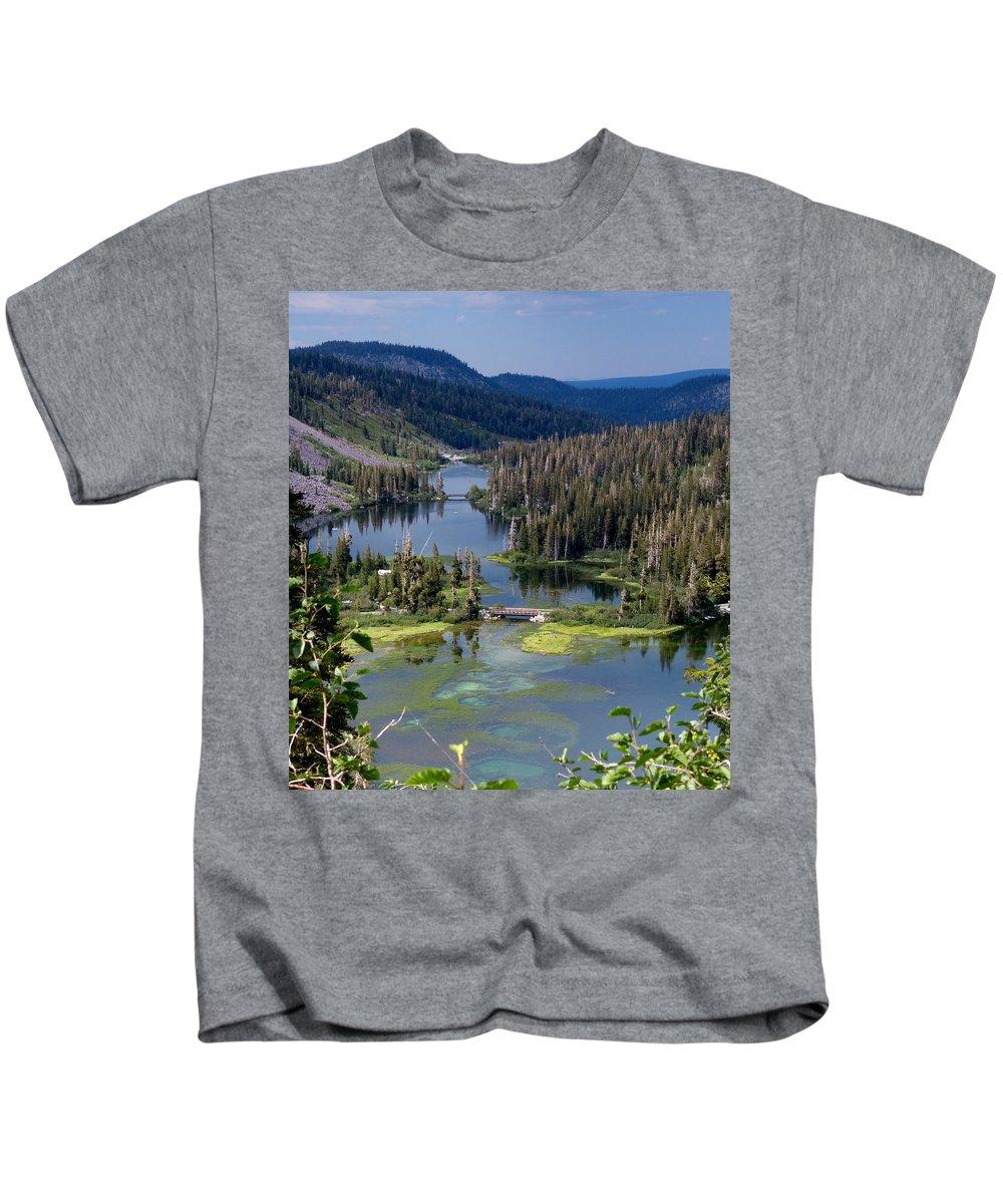 Three Kids T-Shirt featuring the photograph Three Bridges by Alan Socolik