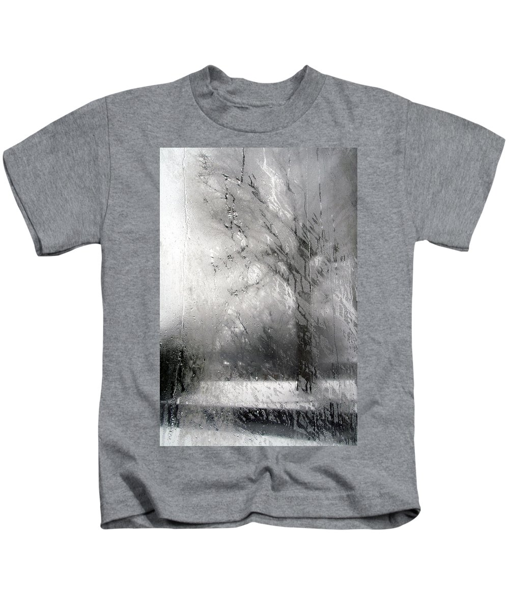 Tree Kids T-Shirt featuring the photograph Through Glass -- A Tree In Winter by Cora Wandel