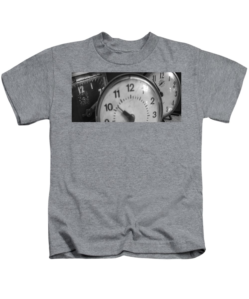 Kids T-Shirt featuring the photograph Tick Tock Goes The Clock 3 by Cathy Anderson