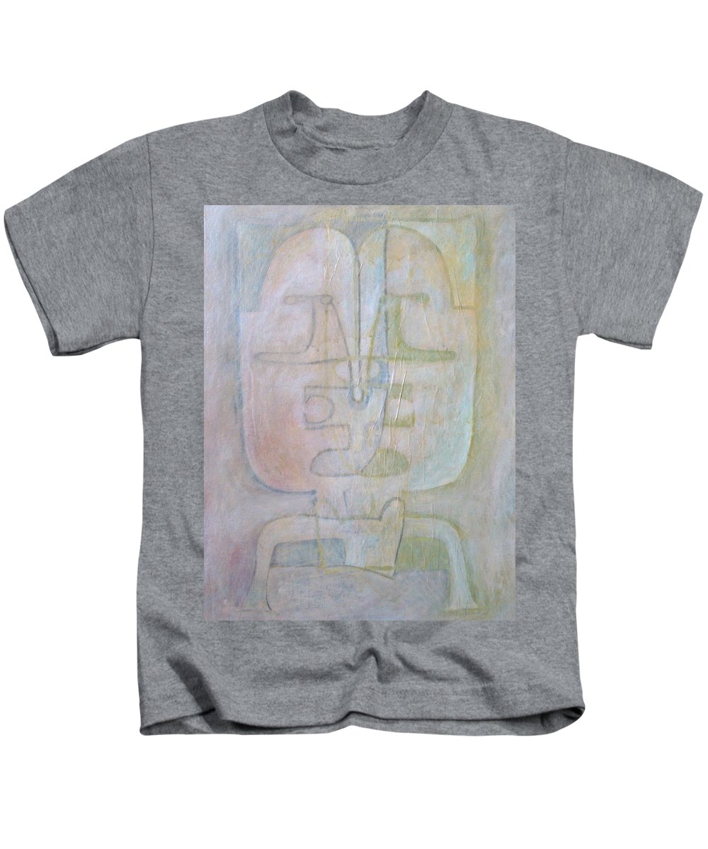 Abstract Faces Kids T-Shirt featuring the painting Till We Have Faces by W Todd Durrance