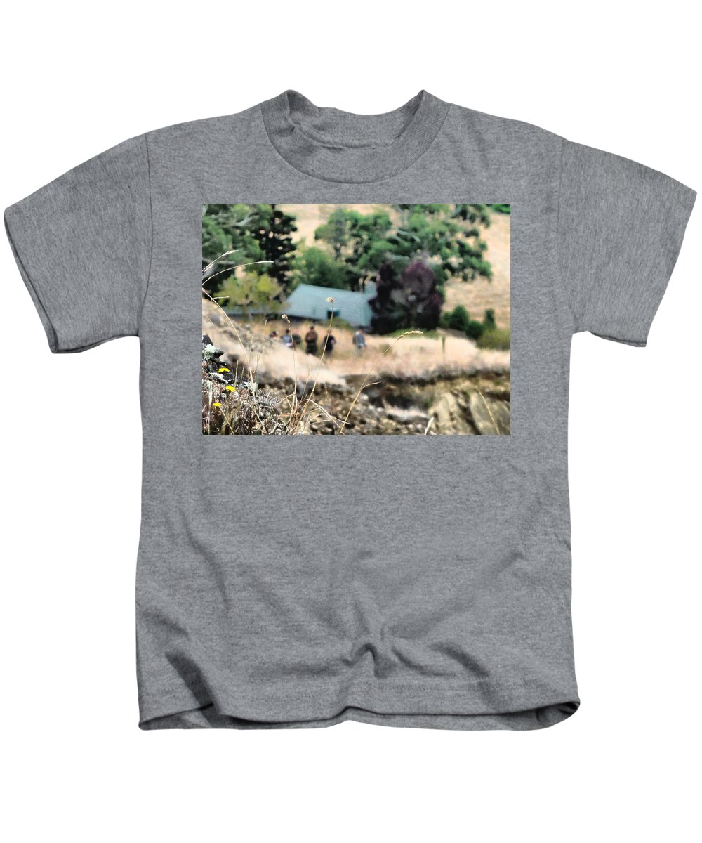 Grass Kids T-Shirt featuring the photograph Time For A Picnic by Steve Taylor