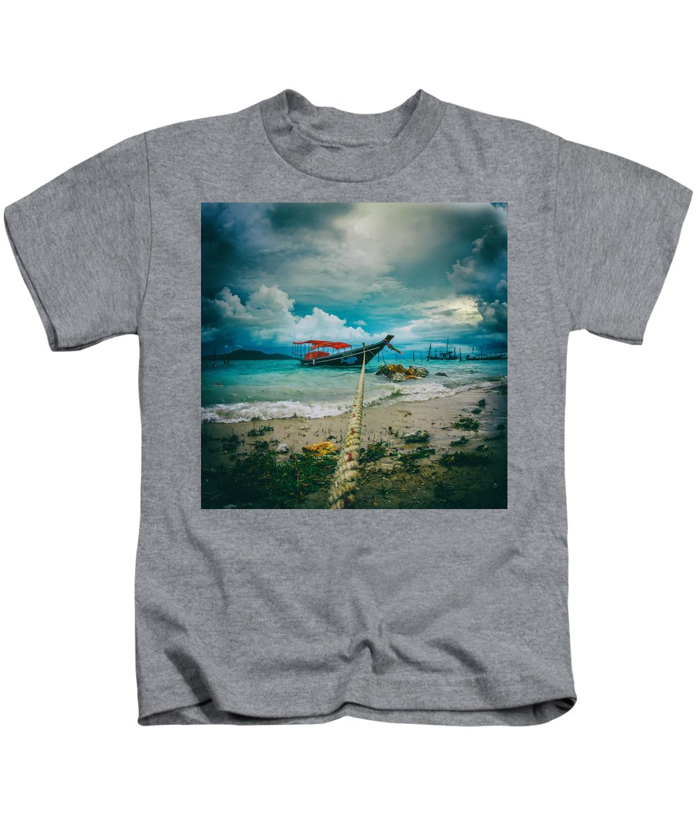 Ancient Kids T-Shirt featuring the photograph Time To Rest by Stelios Kleanthous