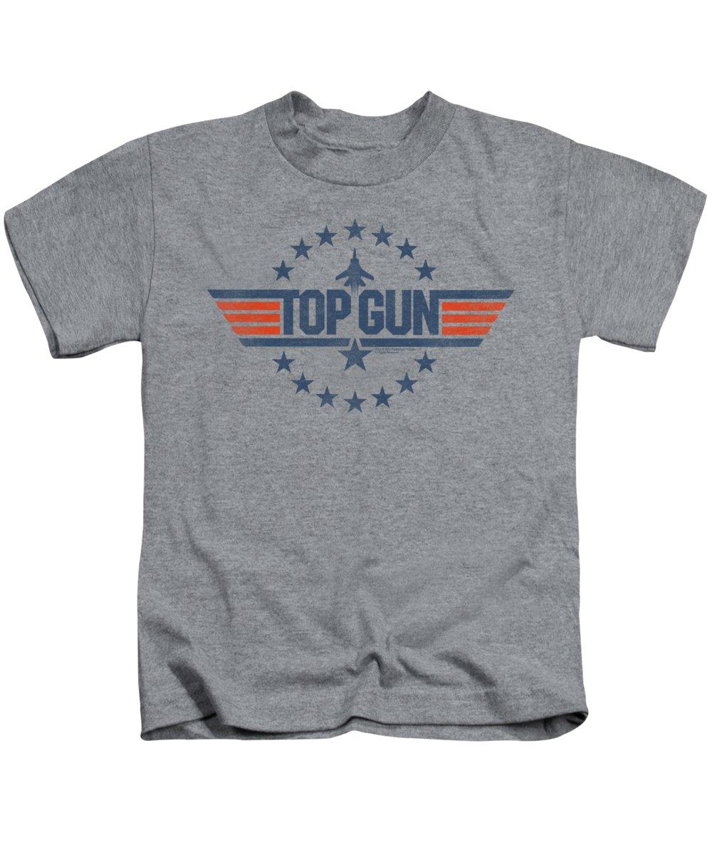 Top Gun Kids T-Shirt featuring the digital art Top Gun - Star Logo by Brand A