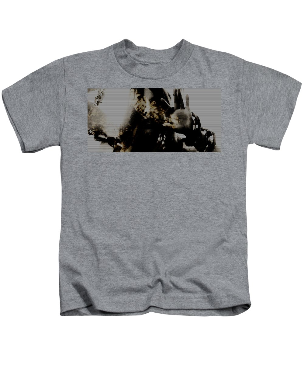 Black And White Kids T-Shirt featuring the photograph Trapped Inside by Jessica Shelton