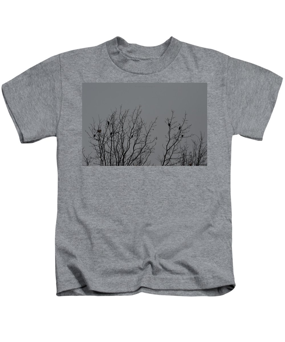 Birds Kids T-Shirt featuring the photograph Tree Of Birds by Sonali Gangane