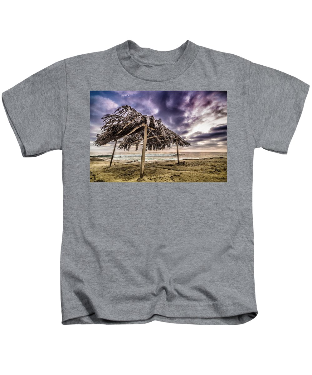 La Jolla Kids T-Shirt featuring the photograph Tropical Solace by Justin Lowery