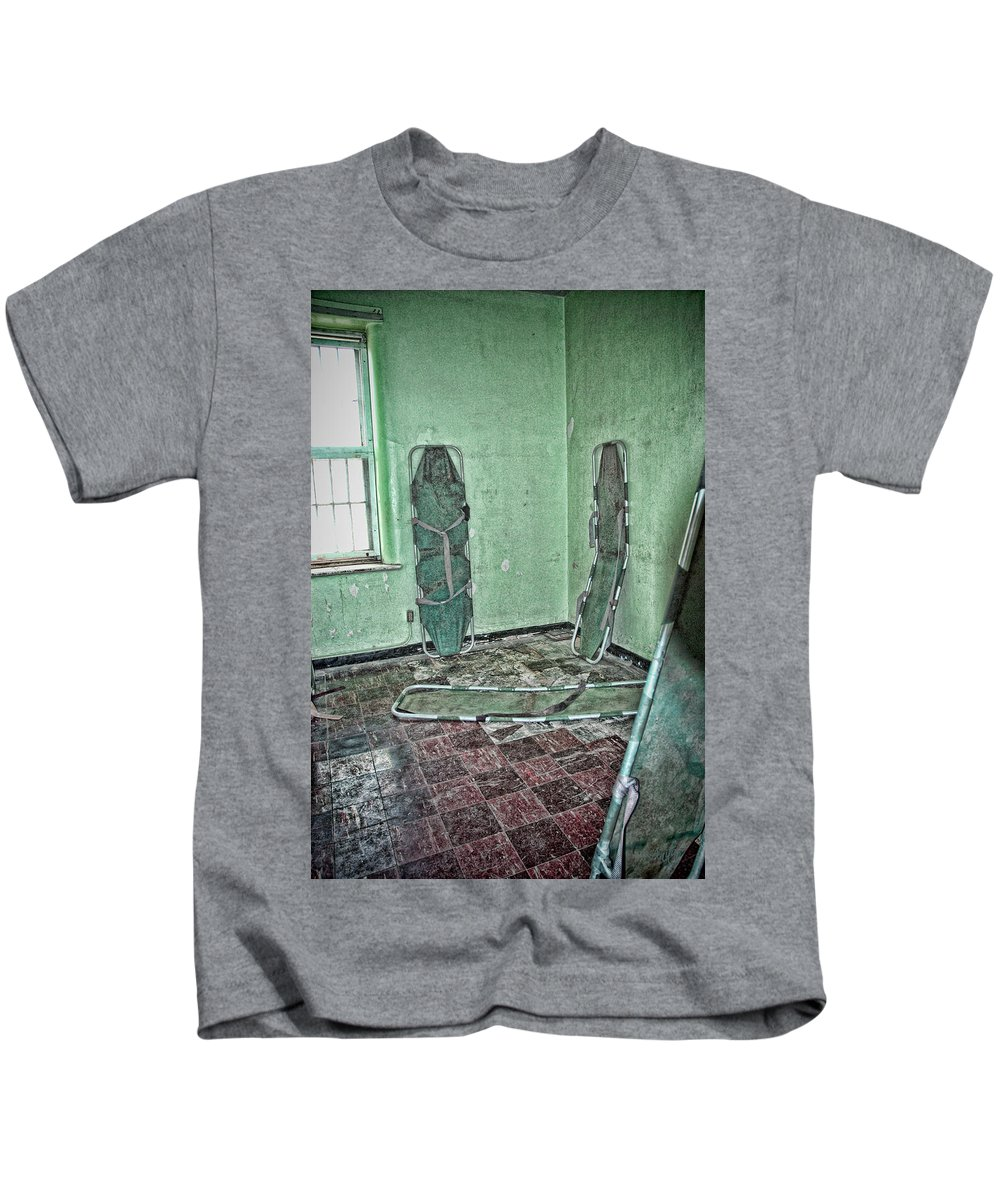 Stretcher Kids T-Shirt featuring the digital art Trouble by Anita Hubbard