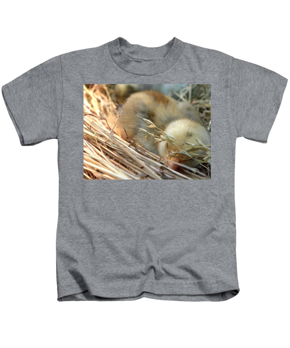 Tuckered Out Kids T-Shirt featuring the photograph Tuckered Out by Sheri Lauren