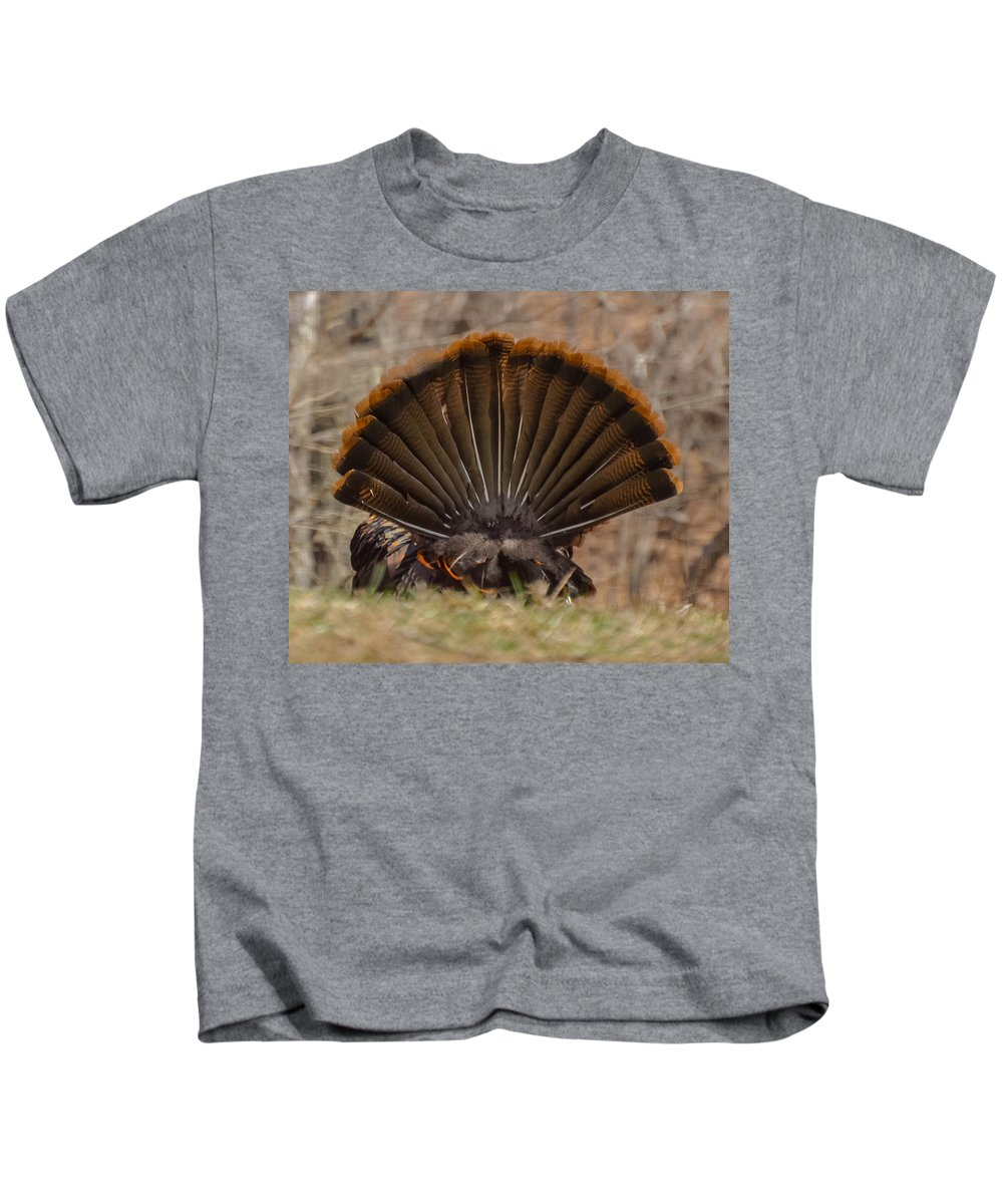 Turkey Kids T-Shirt featuring the photograph Turkey Tail by Amy Porter