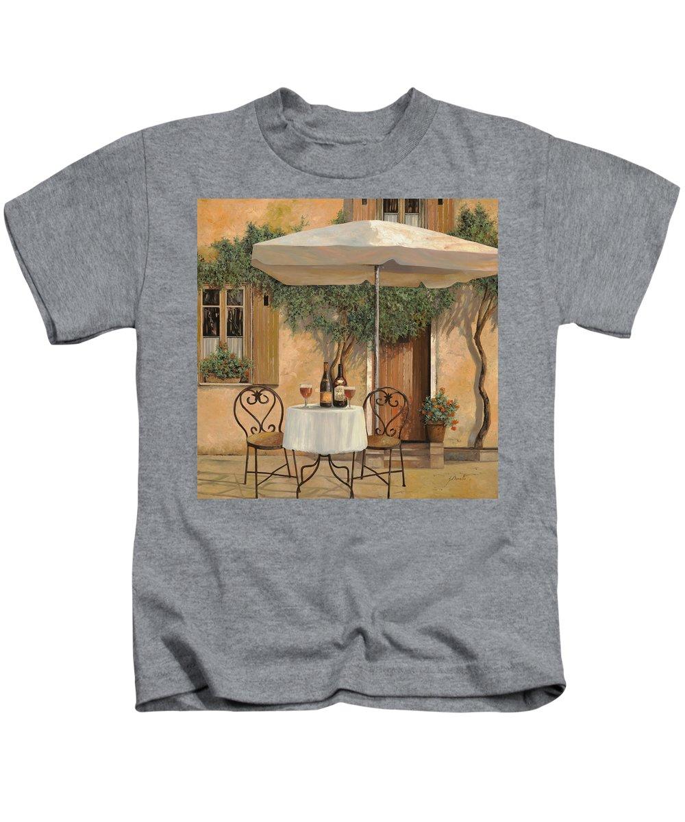 Chianti Kids T-Shirt featuring the painting Un Altro Bicchiere Prima Di Pranzo by Guido Borelli
