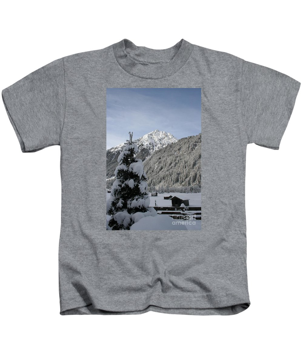 Snow Kids T-Shirt featuring the photograph Valley In The Snow by Christiane Schulze Art And Photography