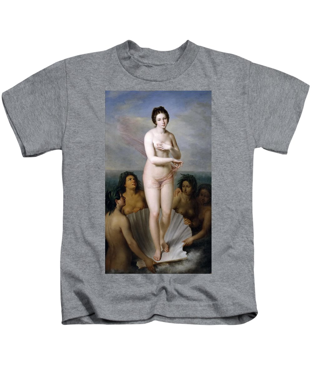 Antonio Maria Esquivel Kids T-Shirt featuring the painting Venus Anadyomene by Antonio Maria Esquivel