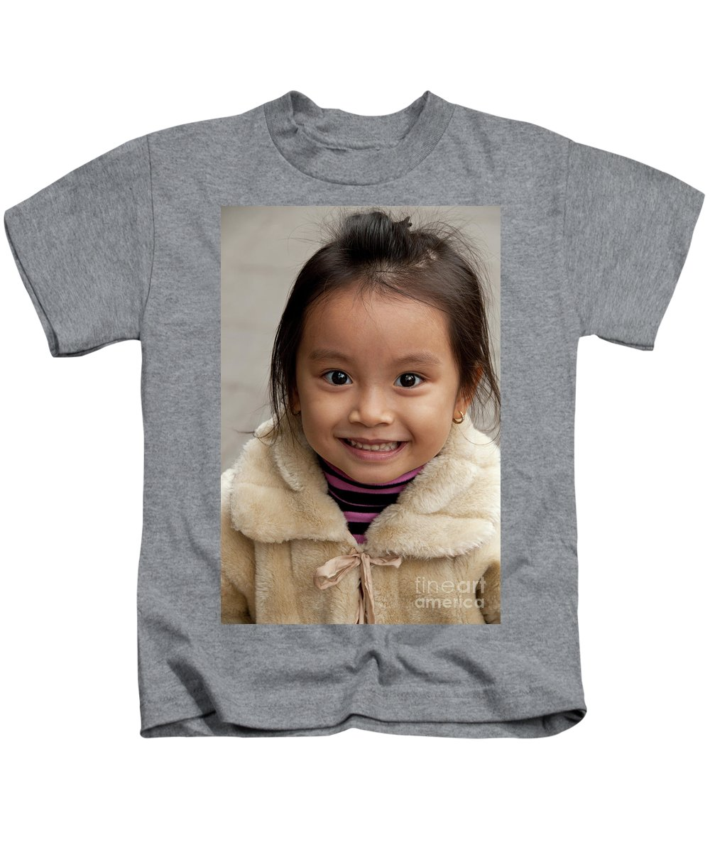 Vietnam Kids T-Shirt featuring the photograph Vietnamese Girl 03 by Rick Piper Photography