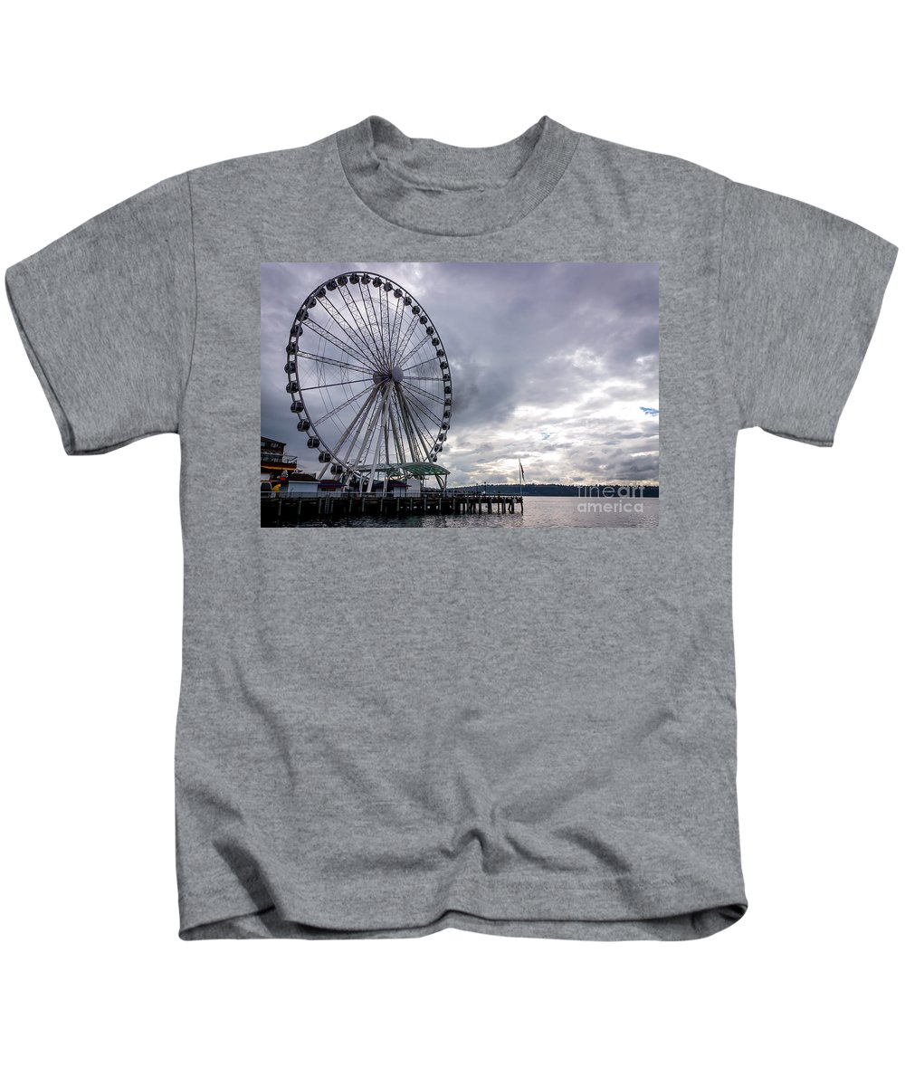 Kids T-Shirt featuring the photograph View From The Top by DAC Photography