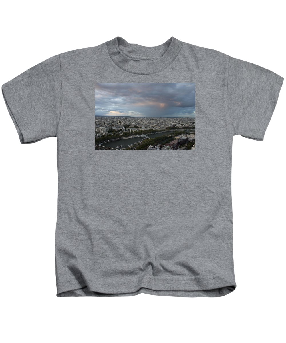 View Of Paris Kids T-Shirt featuring the photograph View Of Paris by Ivete Basso Photography