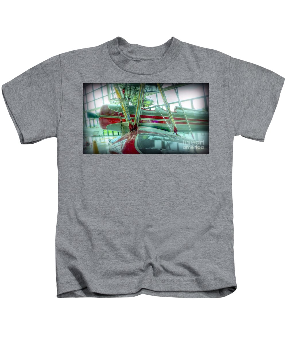 Kids T-Shirt featuring the photograph Vintage Airplane Two by Susan Garren