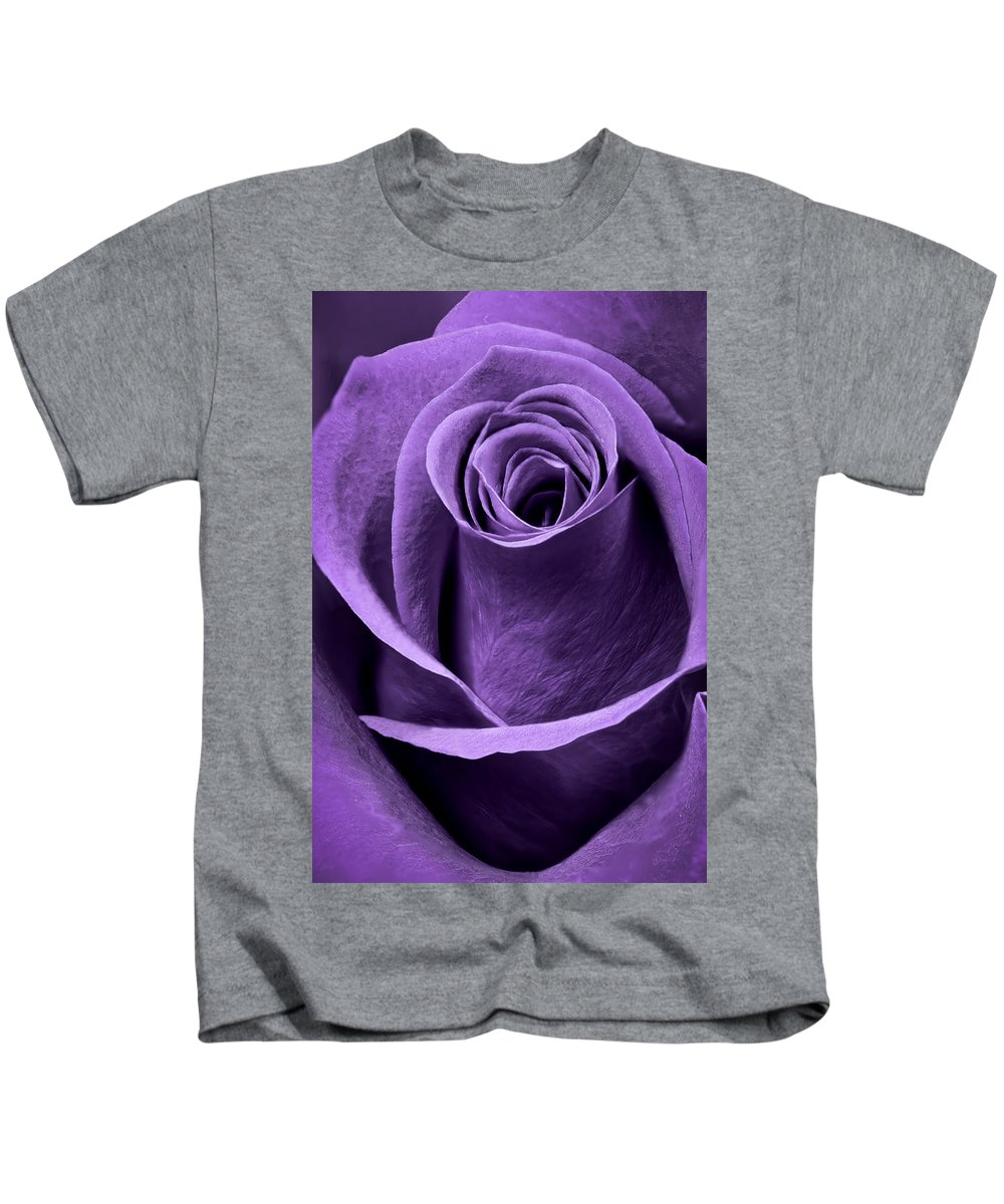 3scape Photos Kids T-Shirt featuring the photograph Violet Rose by Adam Romanowicz