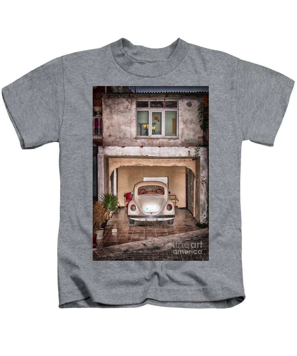 Car Kids T-Shirt featuring the photograph Vw Beetle by Antony McAulay