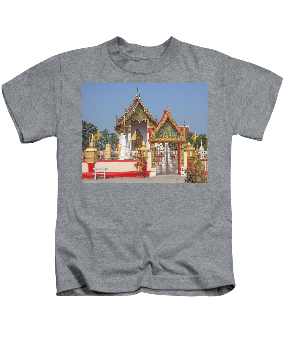 Scenic Kids T-Shirt featuring the photograph Wat Kampaeng Phra Ubosot And Gate Dtha0142 by Gerry Gantt