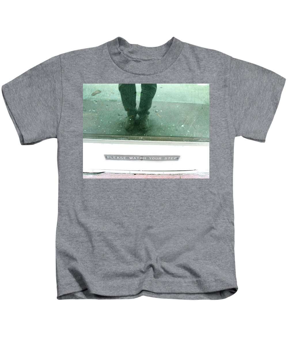 Watch Your Step Kids T-Shirt featuring the photograph Watch Your Step by Randi Kuhne