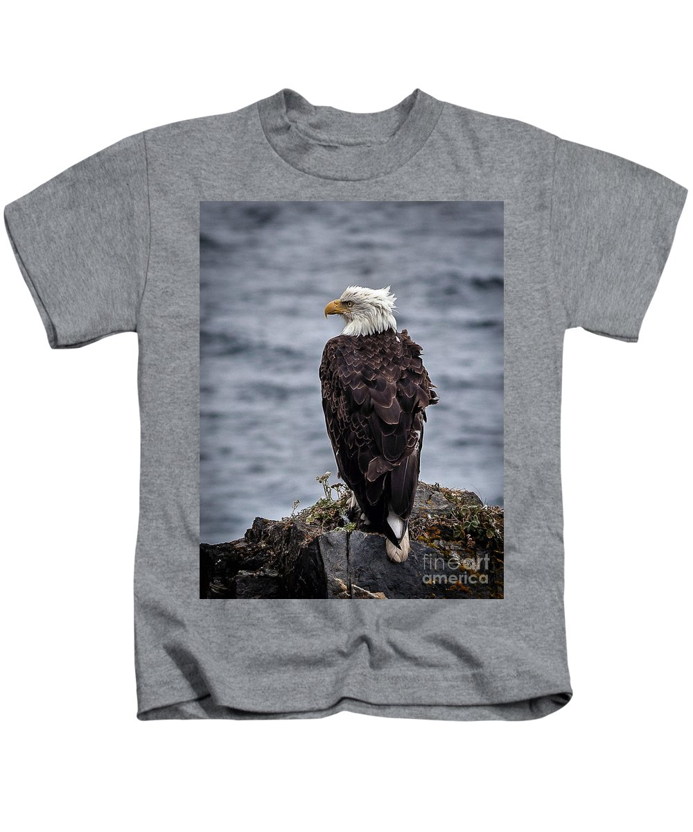 Nature Kids T-Shirt featuring the photograph Watching by Steven Reed