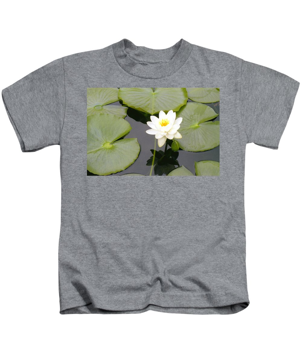 Flora Kids T-Shirt featuring the photograph Water Lily I I by Jim Smith