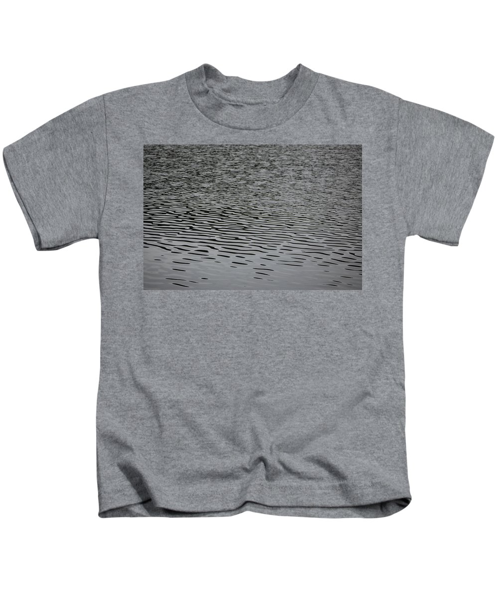 Water Lines Kids T-Shirt featuring the photograph Water Lines by Gina Dsgn