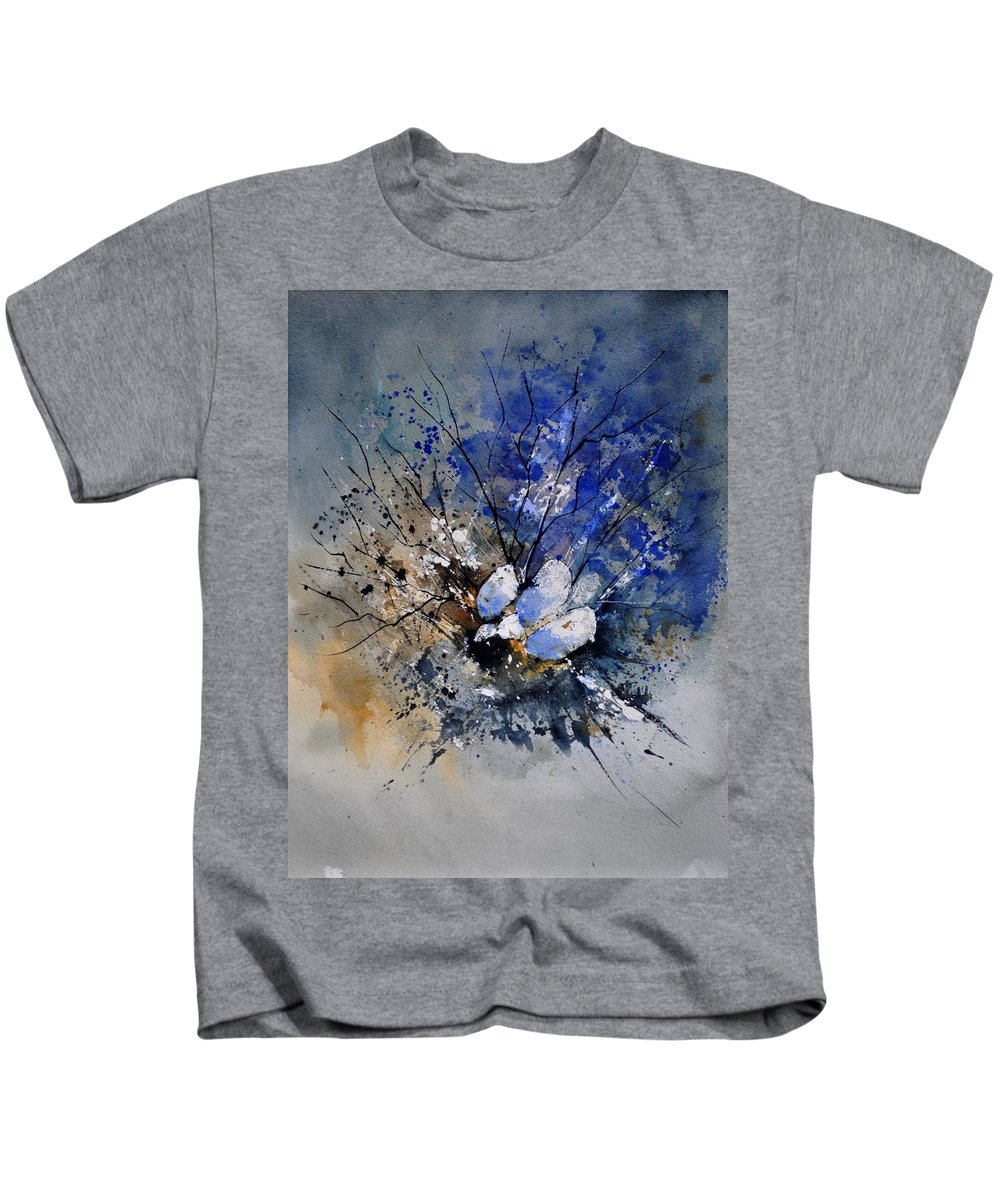 Abstract Kids T-Shirt featuring the painting Watercolor 415081 by Pol Ledent