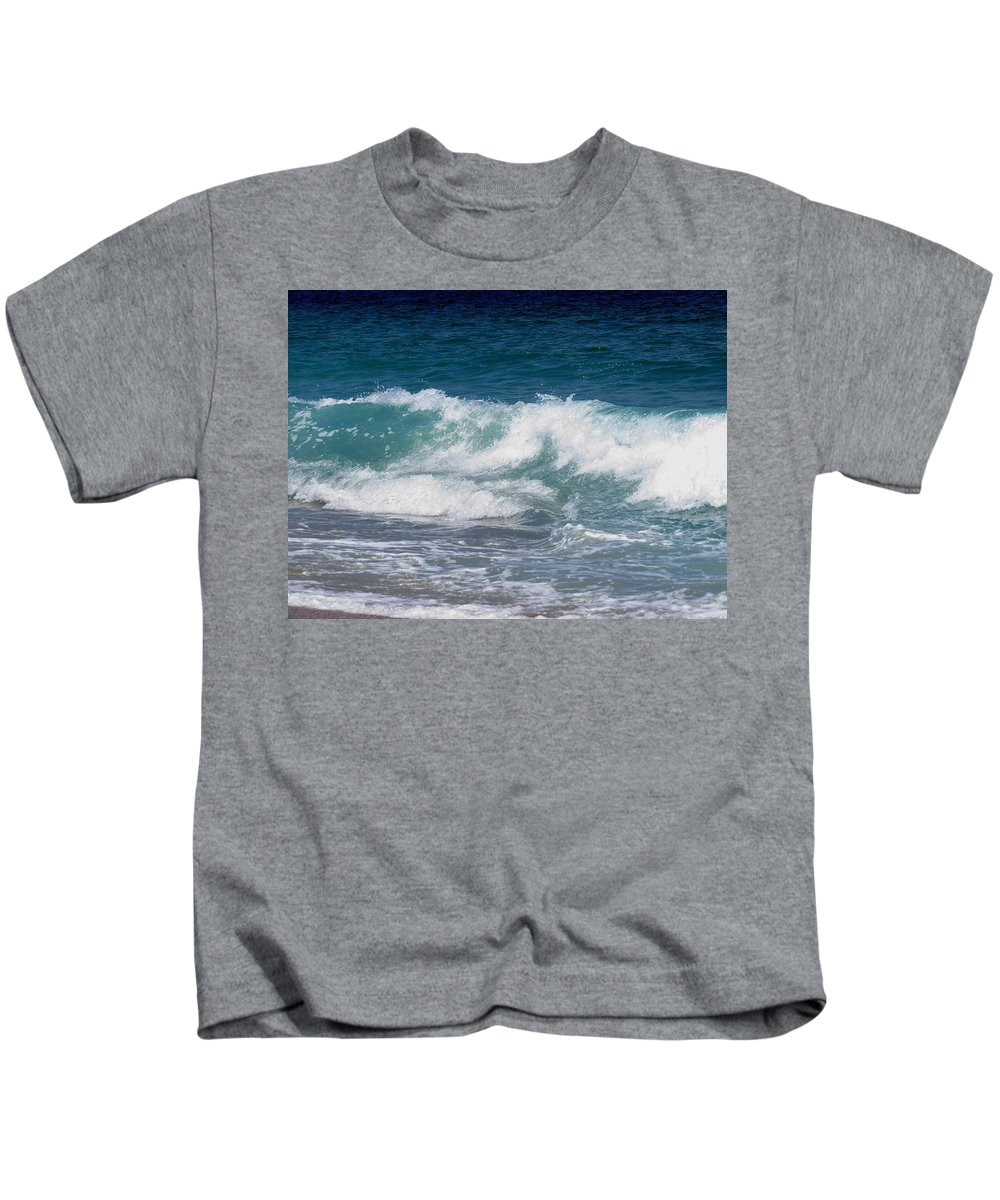 Waves Kids T-Shirt featuring the photograph Wave by Zina Stromberg
